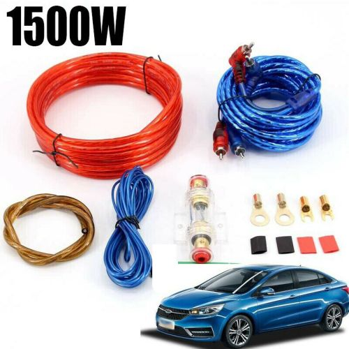 small resolution of 1500w 8ga car amplifier wiring kit audio subwoofer amp rca power
