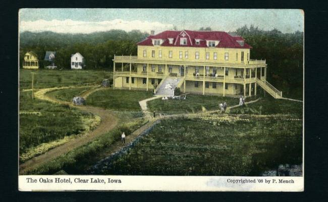 Clear Lake Iowa 1909 Oaks Hotel Cabins Beside Ia Ebay