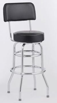 New Black Heavy Duty Swivel Bar Stools w/ Backs $75/ea