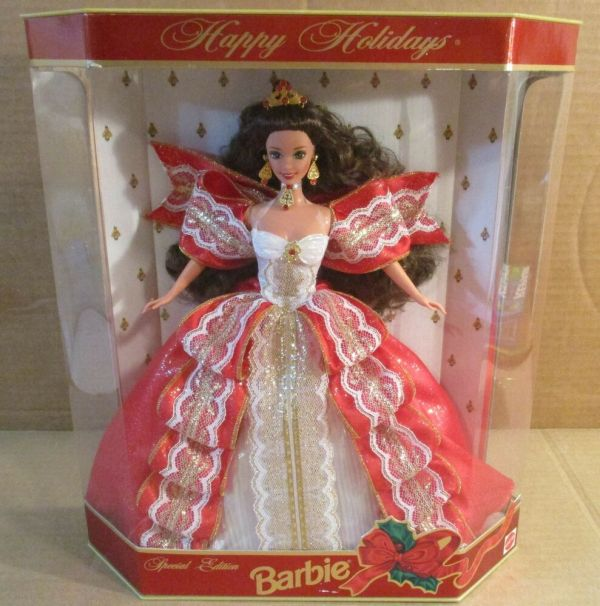 1997 Happy Holiday Barbie 10th Anniversary Doll