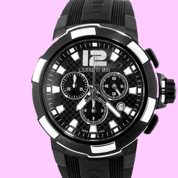 Cerruti Men' Roma Sportiva Swiss Chronograph Watch
