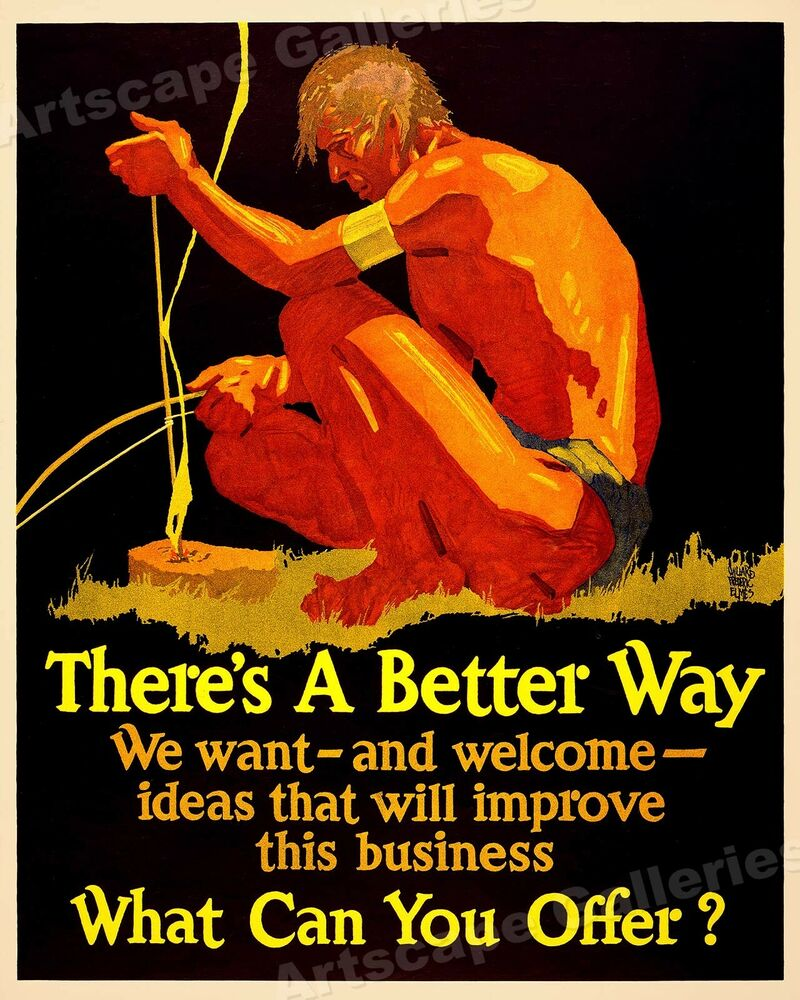 There's A Better Way! Mather Motivational Poster 24x28  Ebay