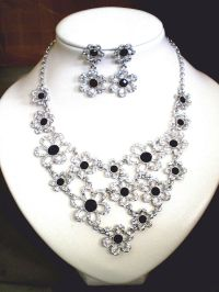 Swarovski Crystal Necklace and Matching Earring Set