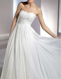 New White Strapless Wedding Dress Debutante Gown 6