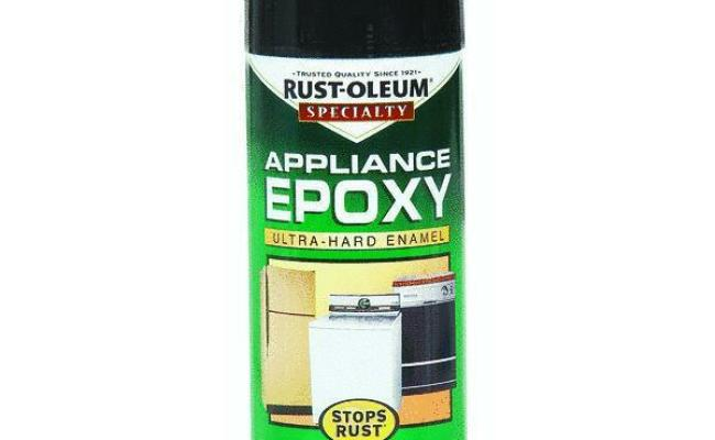 Appliance And Metal Epoxy Black Spray Paint By Rustoleum