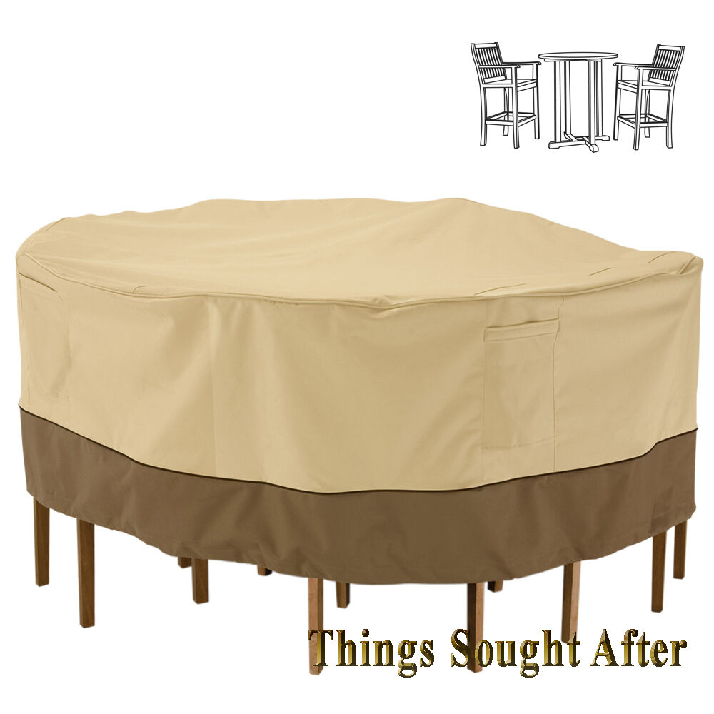 COVER for TALL ROUND PATIO TABLE  CHAIR SET Outdoor Furniture Picnic VERANDA  eBay