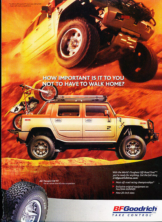2005 BF Goodrich All Terrain Tires Classic Vintage Advertisement Ad D25 EBay