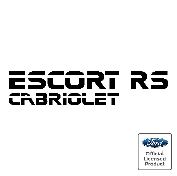 Ford Escort Mk4 RS Cabriolet Boot Decal Sticker RS S1