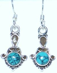 Turquoise 925 Sterling SILVER Earring Antique style ...