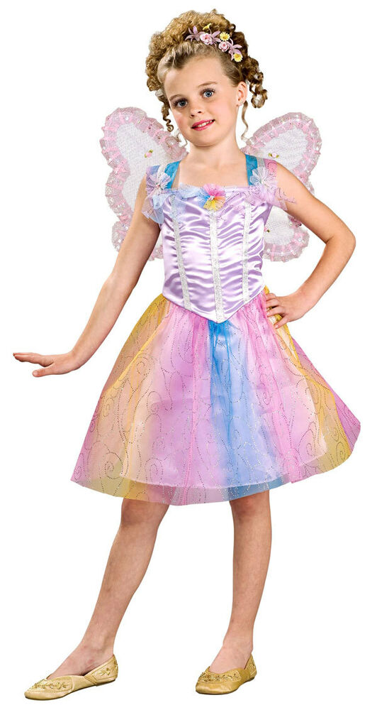 Fairy Princess Pixie Rainbow Cute Kids Dress Up Halloween