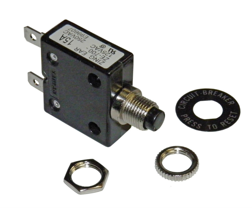 medium resolution of amp circuit breaker for 12 24 50 volts dc or 110 220 volts ac ebay
