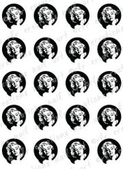 nail decals marilyn monroe