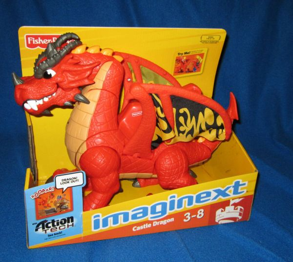 Fisher Imaginext Eagle Talon Castle Dragon With Dvd