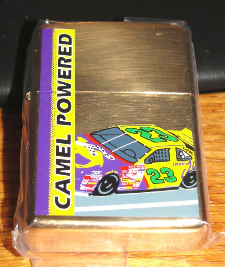 CAMEL POWERED BRASS CASE ZIPPO LIGHTER 1997 RARE MINT made in USA | eBay