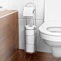 Free Standing 4 Roll Bathroom Toilet Paper Tissue ...
