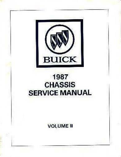 1987 buick grand national repair manual