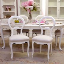 Shabby Cottage Chic French Vintage Style Set 6 Dining
