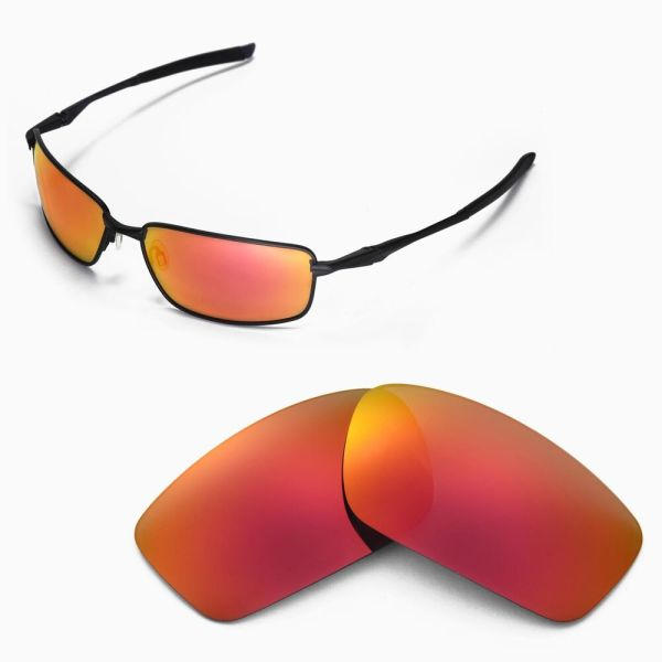 Walleva Polarized Fire Red Replacement Lenses