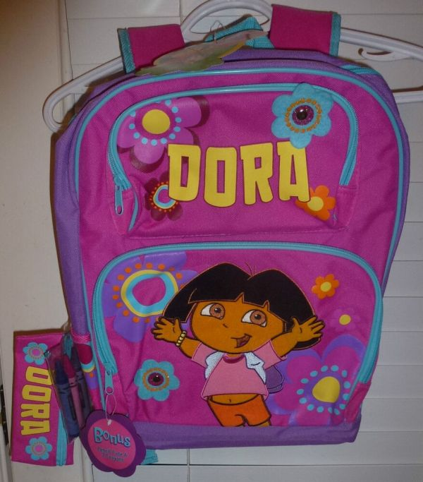 Nickelodeon Dora Explorer Magenta Backpack Purse & Pencil