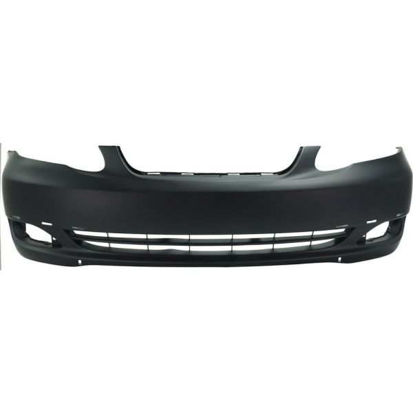 Front Bumper Cover 2005-2008 Toyota Corolla With Fog Lamp Holes Primed Capa