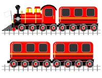 Railroad Train Wall Decals Baby Boy Nursery Kids Children