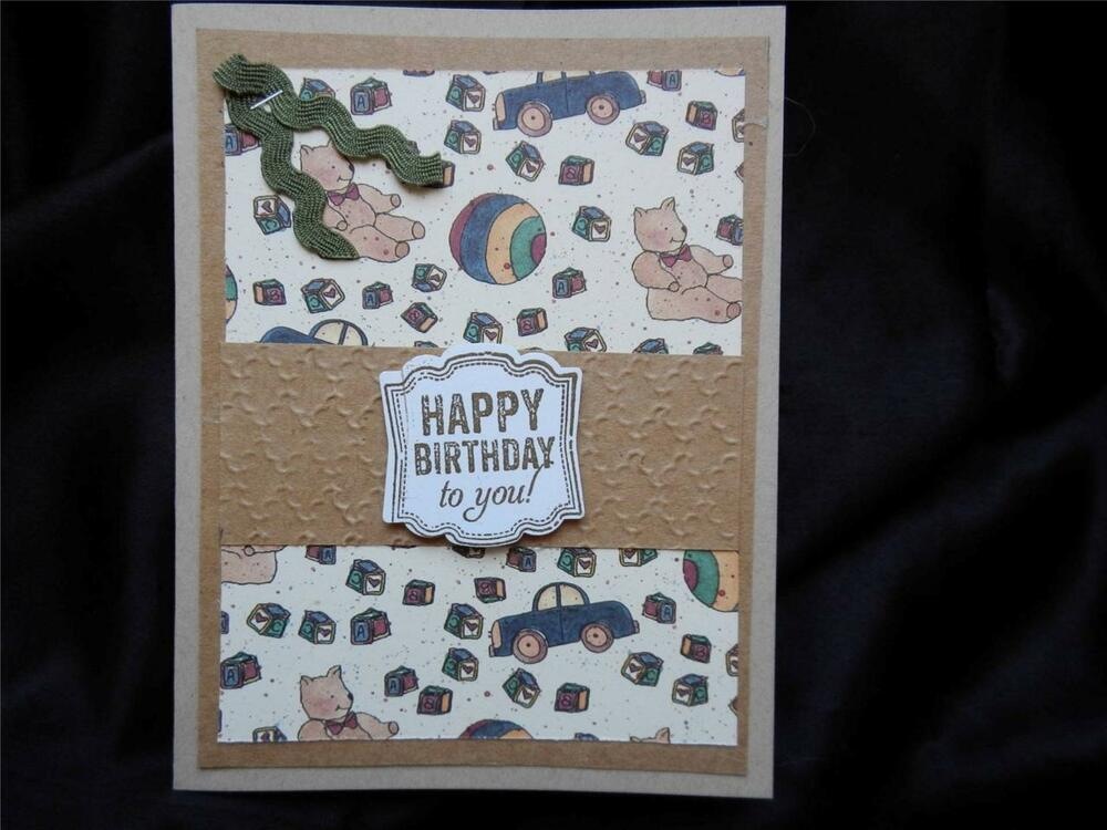 Handmade Kids Birthday Card Made With Stampin Up With Cars