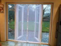 Fly Screen Self Closing Magnetic Patio Door White 170 x ...