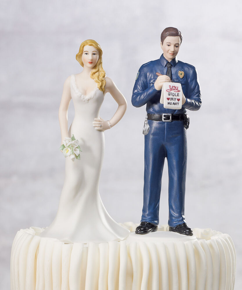 A Love Citation Police Officer and Bride Funny Policeman Wedding Cake Topper  eBay