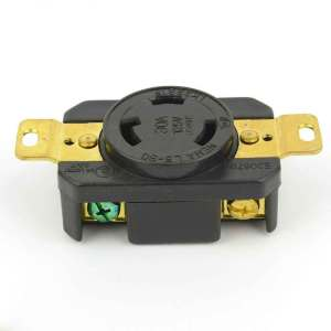Twist Lock Wall Mount Electrical Receptacle 3 Wire 30A