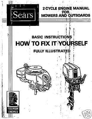 tecumseh/sears 2 cycle repair manual on cd,ice auger motor