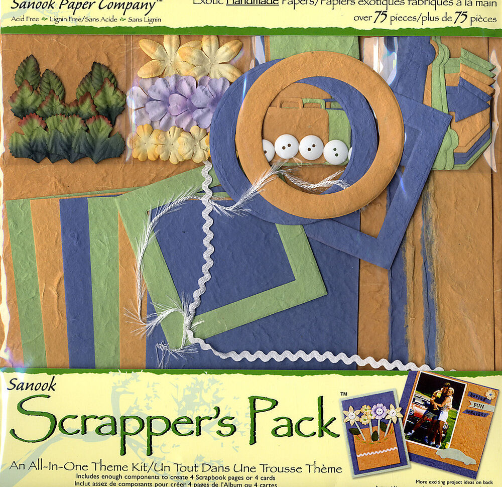 Scrapbook Kit Handmade Papers Scrappers Pack Road Trip