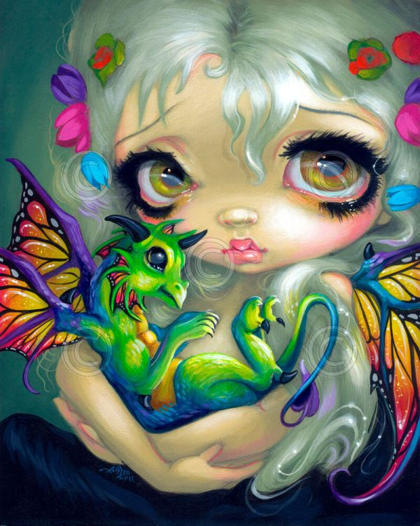 Art Print - Darling Dragonling Iv Jasmine Becket-griffith 14x11 Gothic Poster