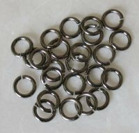 25 PACK ~ SNAPEEZ LOCKING JUMP RINGS ~ 6MM ~ BLACK NICKEL