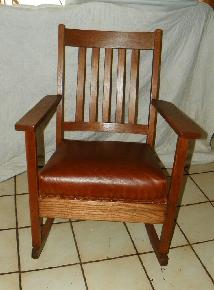 Mission Oak Rocker  Rocking Chair R178  eBay