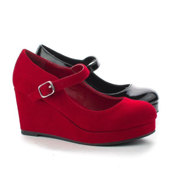 Kaylaiis Toe Children' Platform Mary Jane High Heel