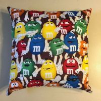 AWESOME NEW 15 X 15 M&M's CANDY THEME COMPLETE PILLOW ...