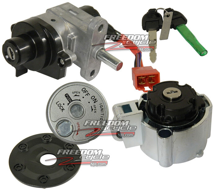 50cc Scooter Ignition Wiring Diagram Yamaha Zuma 125 Scooter Lock Kit Ignition Switch Gas Cap
