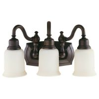 Feiss Canterbury 3-Light Vanity Fixture, Oil Rubbed Bronze ...