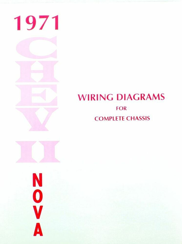 71 1971 Chevy Nova Electrical Wiring Diagram Manual