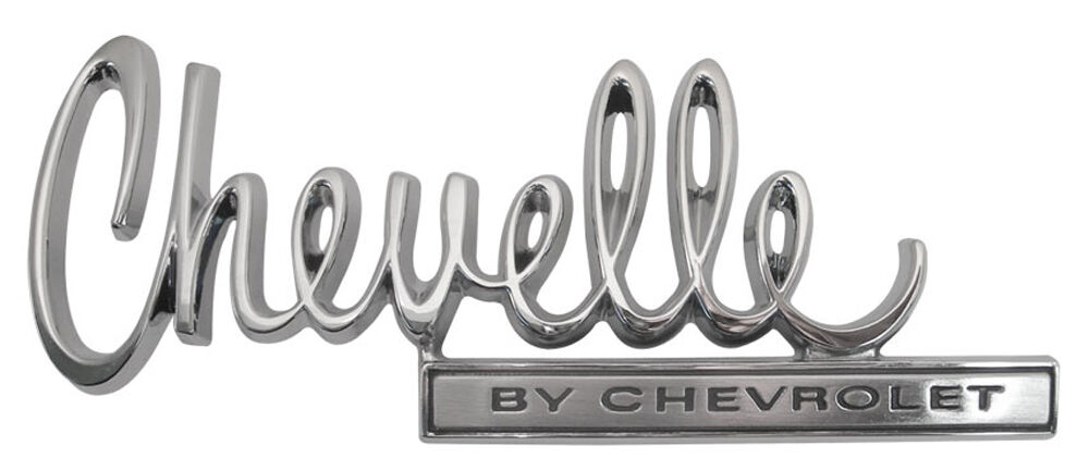 NEW Trim Parts Chevelle By Chevrolet Trunk Lid Emblem