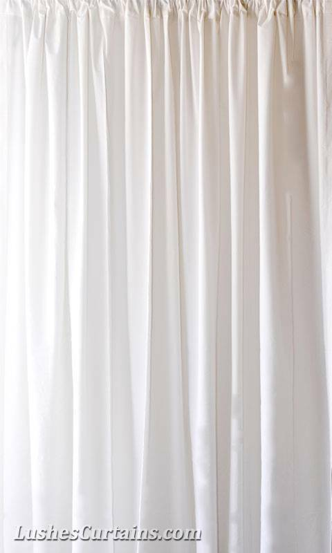 168 Inch H Solid White Velvet Ready Made Curtain Panels Extra Tall