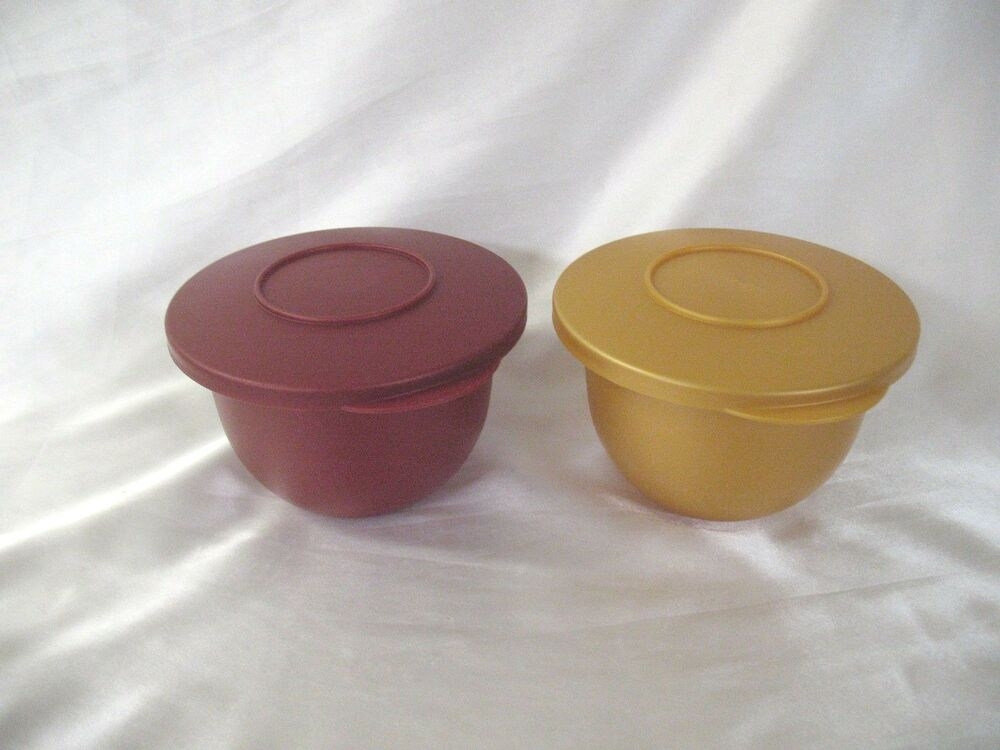 Tupperware Impressions Mini Mixing Bowls Storage