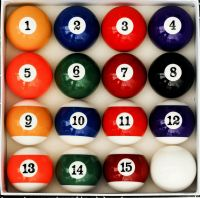 Art Number Style Pool Table Billiard Ball Set Reg Size and ...