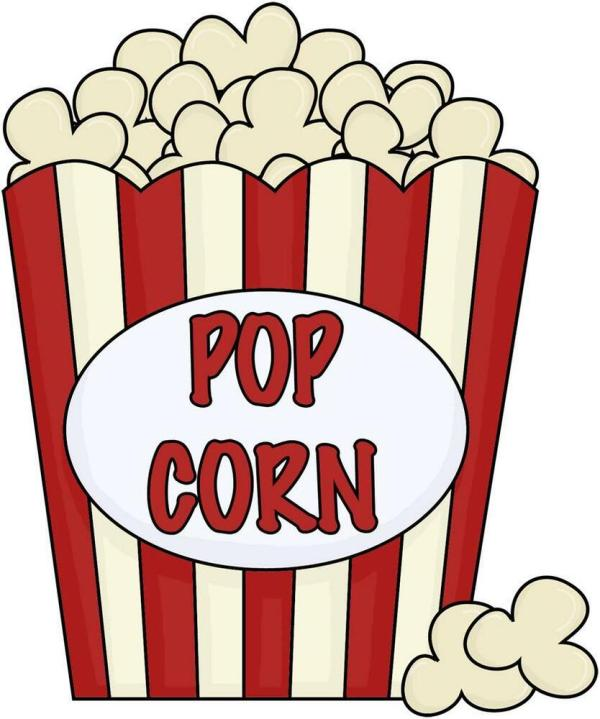 popcorn decal removable wall sticker