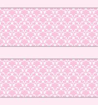 Pink Damask Wallpaper Border Wall Decals Baby Girl ...