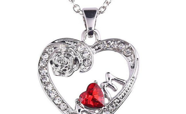 Charm Mother S Day Gift For Mom Friend Red Diamond Heart