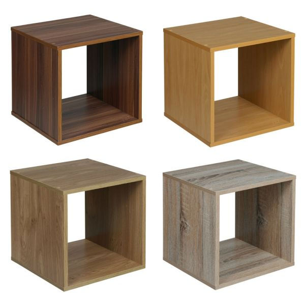 Wooden Cube Storage Shelves