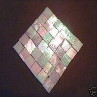 100 WHITE IRIDESCENT MOSAIC TILE STAINED GLASS TILE CRAFT ...