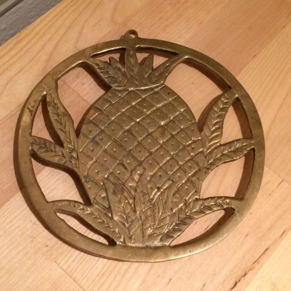 Vintage Brass Wall Hanging Plate