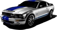 MUSTANG SHELBY GT500 Decal Removable WALL STICKER Art ...